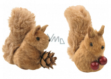 Plush squirrel brown 7 cm on clip 1 piece