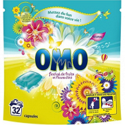 Omo Festival de Fruits Liquid Caps gel capsules for washing colored and white laundry 32 doses 841 g