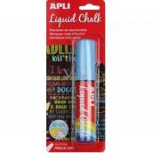 Apli Jumbo chalk marker cut tip blue 10 x 15 mm
