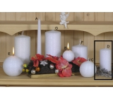 Lima Alfa Frosty effect candle white cylinder 60 x 120 mm 1 piece