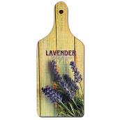 Bohemia Gifts Decorative cutting board Lavender Provence with original print 28 x 12 cm