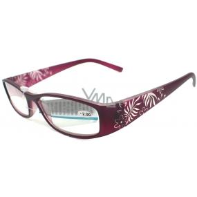 Berkeley Reading glasses +3.0 purple retro CB02 / MC2 1 piece ER6040