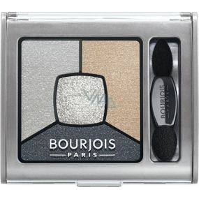 Bourjois Smoky Stories Quad Eyeshadow Palette Eye Shadow 09 Greyzy In Love 3.2 g