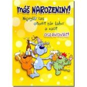 Albi Hrací přání do obálky K narozeninám Jede jede mašinka Maxim Turbulenc 14,8 x 21 cm