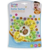 First Steps Rattle Teether Little Rat with Monkey Rattle