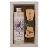Bohemia Gifts & Cosmetics Myslivec shower gel 250 ml + wooden butterfly, cosmetic set for men