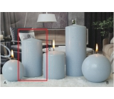 Lima Ice pastel candle light blue cylinder 80 x 150 mm
