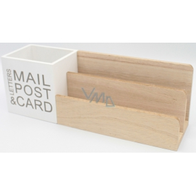 Nekupto Home Decor Wooden Stand Mail Post 29 x 10 x 8 cm