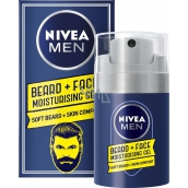 Nivea Men Beard + Face moisturizing gel for face and beard 50 ml