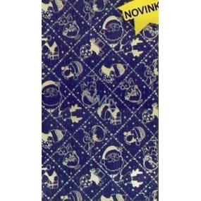 Nekupto Cellophane bag 15 x 25 cm Christmas blue, silver motifs 170 40 SN