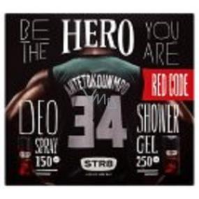 Str8 Red Code deodorant spray for men 150 ml + shower gel 250 ml, cosmetic set
