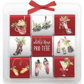 Nekupto Christmas chocolate puzzle, Ladies 9 x 5 g, 11 x 11.5 x 0.7 cm