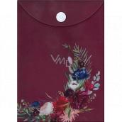 Albi Original Document case Bordeaux flowers A6 - 105 x 148 mm