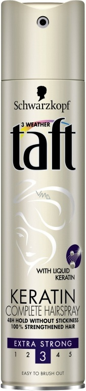 Výsledek obrázku pro taft hair spray keratin