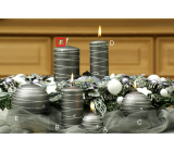 Lima Galaxy candle gray cylinder 70 x 150 mm 1 piece