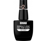 Astor Perfect Stay Gel Top Coat krycí lak na nehty 001 Transparent 12 ml