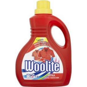 Woolite Extra Color washing gel for colored laundry maintains a color intensity of 1.5 l