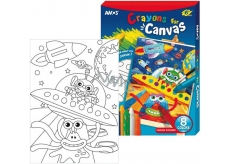 Amos Frame with Canvas Universe + Landscapes 8 colors 28 x 20 cm + Gift