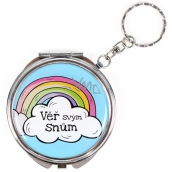Albi Mirror - key ring with text Trust your dreams 6.5 cm