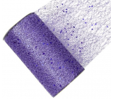 Ribbon net with glitter purple 15 cm x 2.7 m