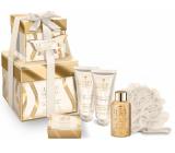 Grace Cole Obsession shower gel 50 ml + hand cream 2 x 50 ml + bath pearls 80 g + bath sponge, cosmetic set