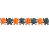 Halloween garland spider orange, black 400 x 17 cm