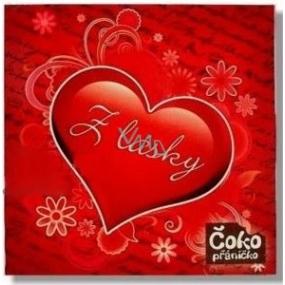 Nekupto Chocolate greeting card From love heart from love chocolate 65 g