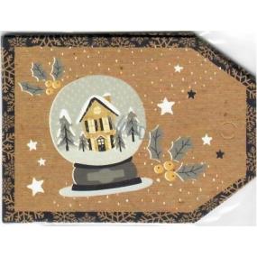 Nekupto Christmas Gift Cards House 5.5 x 7.5 cm 6 pieces