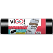 viGO! Garbage bags black 35 liters 50 x 60 cm 15 pieces