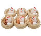 Nests with chicken and eggs 5.5 cm 1 piece random selection