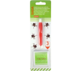 Alfa Tweezers for ticks with antibacterial wipes, set