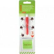 Alfa Tweezers for ticks with antibacterial wipes, set