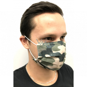 Veil 3 layers protective medical non-woven disposable, low breathing resistance 10 pieces Camouflage