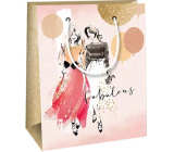 Ditipo Gift paper bag 11.4 x 6.4 x 14.6 cm two women
