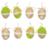 Jute egg for hanging 6 cm 1 piece