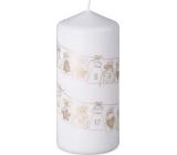Emocio Candle Calendar gifts gold white 68 x 150 mm