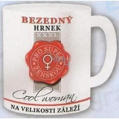Nekupto Gifts with humor Mug maxi Bottomless mug for a super woman 0.8 l