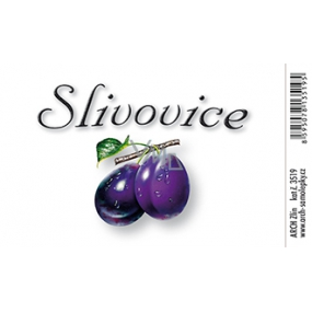 Arch Samolepka Slivovice velká etiketa 8,5 + 5,5 cm 3519 1 kus