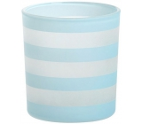 Yankee Candle Coastal Stripe candlestick blue for votive candle 8 x 7 cm