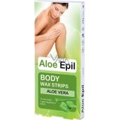 Aloe Epil Body Depilatory Wax Tape For Body 16 + 2 Pieces