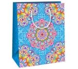 Gift bag C medium - blue color mandalas