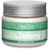 Saloos Bio 100% Green clay French face mask absorbs toxic substances, relieves impurities, unwanted grease 80 g