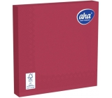 Aha Paper napkins 3 ply 33 x 33 cm 20 pieces one-color saturated burgundy