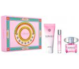 Versace Bright Crystal eau de toilette for women 90 ml + body lotion 150 ml + travel eau de toilette 10 ml, gift set