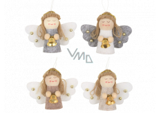 Angel with a hanging bell of various colors 5.5 cm 1 piece