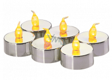 Emos LED candles lit amber, 3.8 cm, 6 pieces silver
