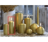 Lima Alfa candle gold cylinder 60 x 120 mm 1 piece