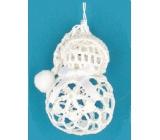 Crocheted snowman 9 cm