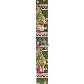 Nekupto Christmas wrapping paper dark green Gifts under the tree 2 x 0,7 m