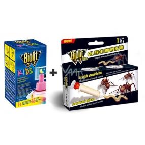 Biolit Kids Electric Evaporator refill 45 nights against mosquitoes 35 ml + Biolit Plus gel against ants 1 piece